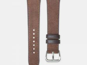 bracelet montre cuir velours marron 1