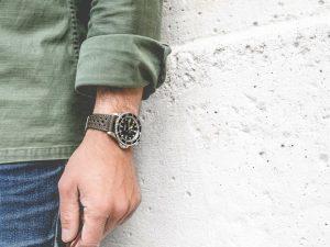 bracelet montre rallye cuir veau kaki dt2