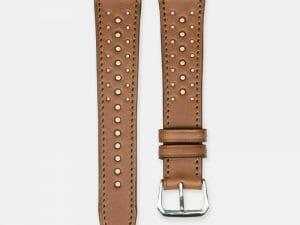 bracelet montre rallye cuir veau marron 2
