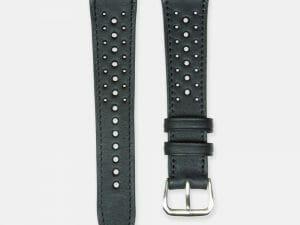 bracelet montre rallye cuir veau noir 2