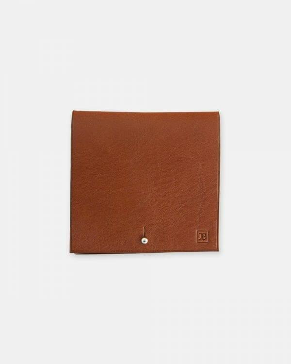 porte billets cuir vachette marron